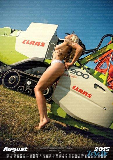 Erotischer Land Maschinen Kalender 2015