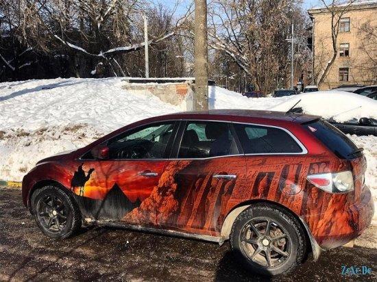 Уникальная Аэрография на автомобилях..
